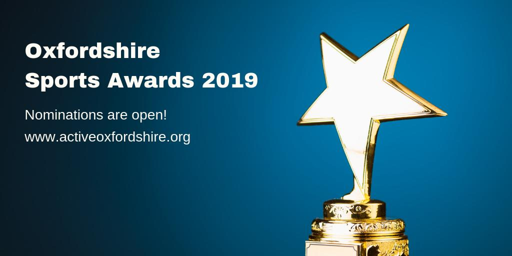 And nominations are OPEN! We're appealing for nominations in the 2019 Oxfordshire Sports Awards. Nominate your elite and community champions for a special thank you. With @BBCOxford @TheOxfordMail https://t.co/AcsRUGl2JN