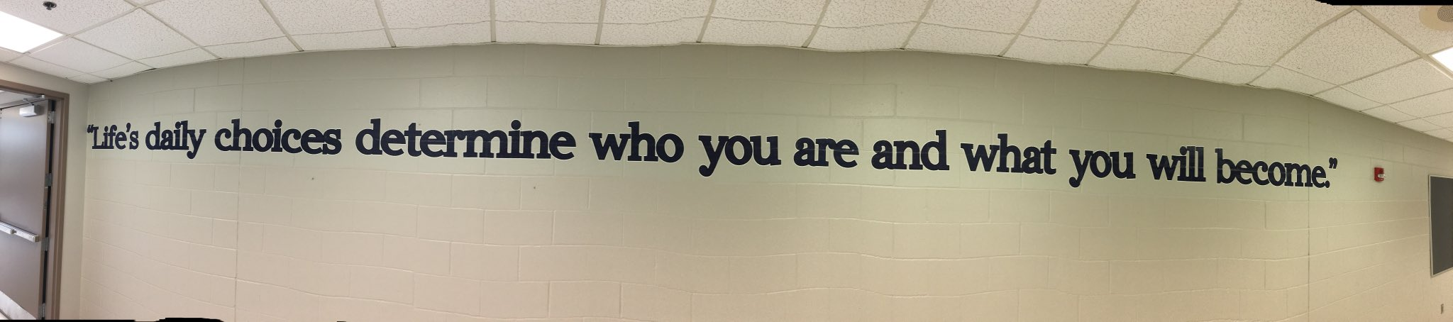 So happy to have spotted this on the wall at our high school. Our minutes, days, years and ultimately our destiny...always defined by the choices we make. #InspiringExcellenceLC @LewisCentralCSD @LCHSPrincipals https://t.co/KWfh3n0VTY