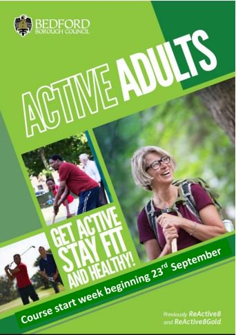 Bookings are now open for Bedford Borough Council's 'Active Adults' Sports Courses. From Badminton, Tennis to Clubbercise and Yoga.There is something for everyone. #ActiveBedfordshire  Visit https://t.co/O5nTjIA4ni to find out more.