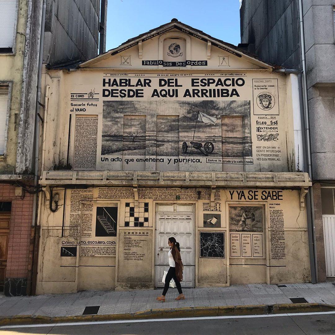 """Jerga"" interesting work by @danielmunoz_san for @desordescreativas in #Galicia #Spain -- #GlobalStreetArt #StreetArt #PaintedCities https://t.co/9mEayIBkeL"