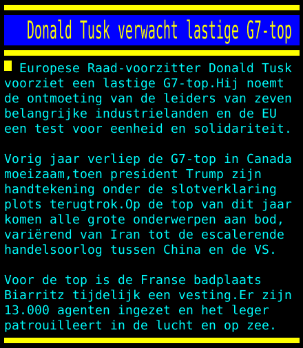 test Twitter Media - Donald Tusk verwacht lastige G7-top https://t.co/kOYcEMrlOI
