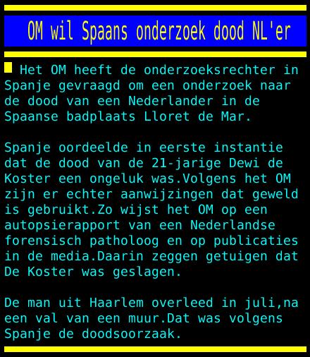 test Twitter Media - OM wil Spaans onderzoek dood NL'er https://t.co/rnT9xuTx05