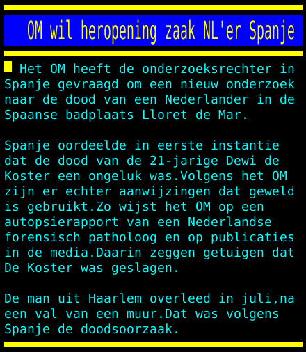 test Twitter Media - OM wil heropening zaak NL'er Spanje https://t.co/xnb01GZ05W
