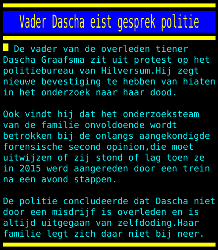 test Twitter Media - Vader Dascha eist gesprek politie https://t.co/CH45xjotgG