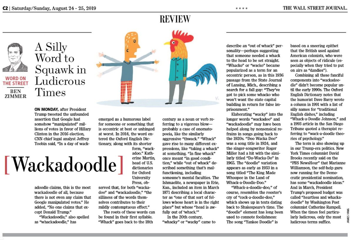 "test Twitter Media - In this weekend's @WSJ Review section: an exploration of ""wackadoodle,"" a word for our times. https://t.co/7AWvhvg5zF https://t.co/m45Aa5y0Sx"