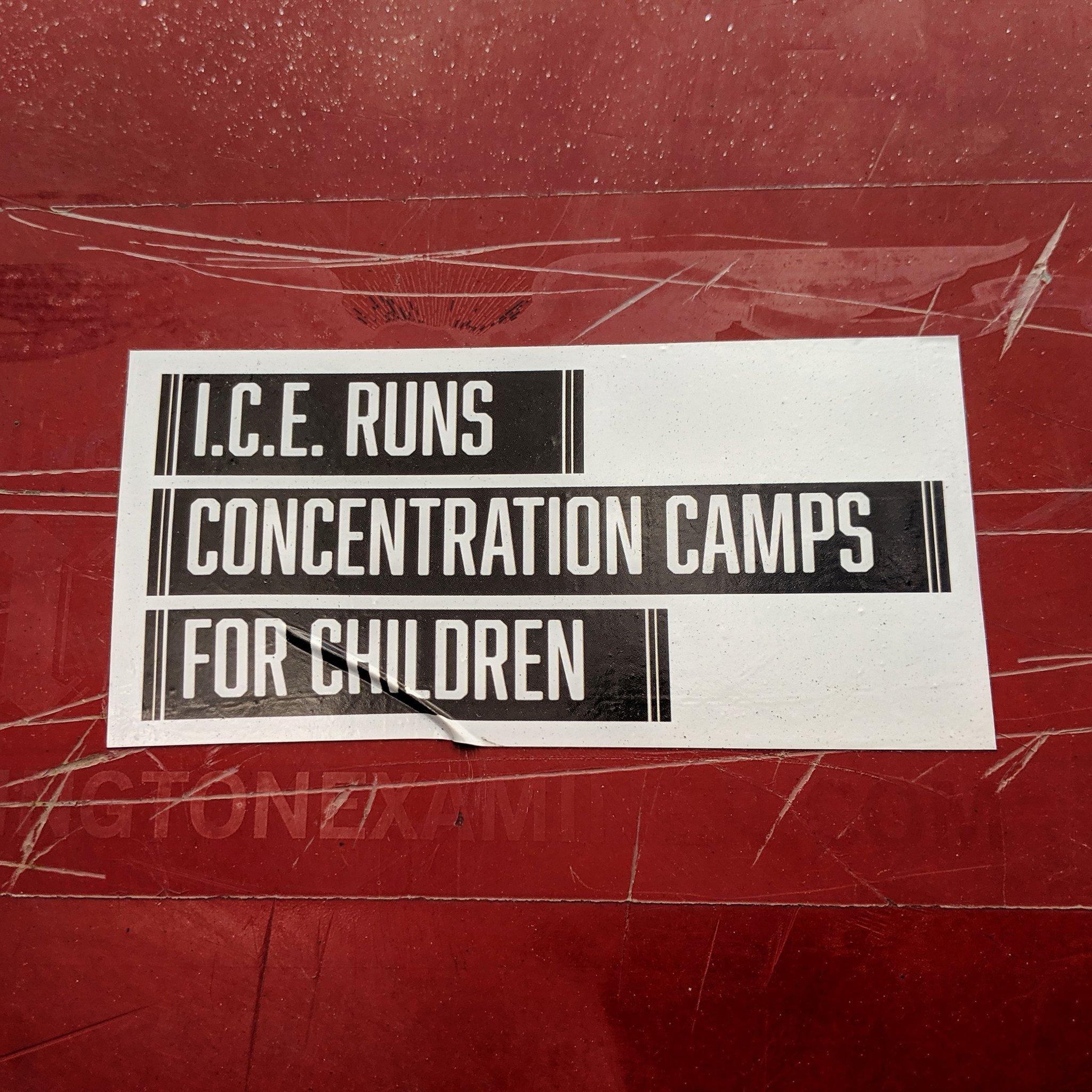 """I.C.E. runs concentration camps for children"" #immigration #ice #immigrants #immigrantsmakeamericagreat #immigrantrights #immigrantchildren #resist #Trump #protest #streetart #DC #WashingtonDC #theresistance #streetartdc #resistance #art #artivism #politicalart #politics https://t.co/83vM76ckNP"