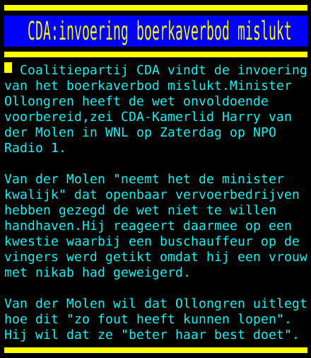 test Twitter Media - CDA:invoering boerkaverbod mislukt https://t.co/ioIj5CVezE