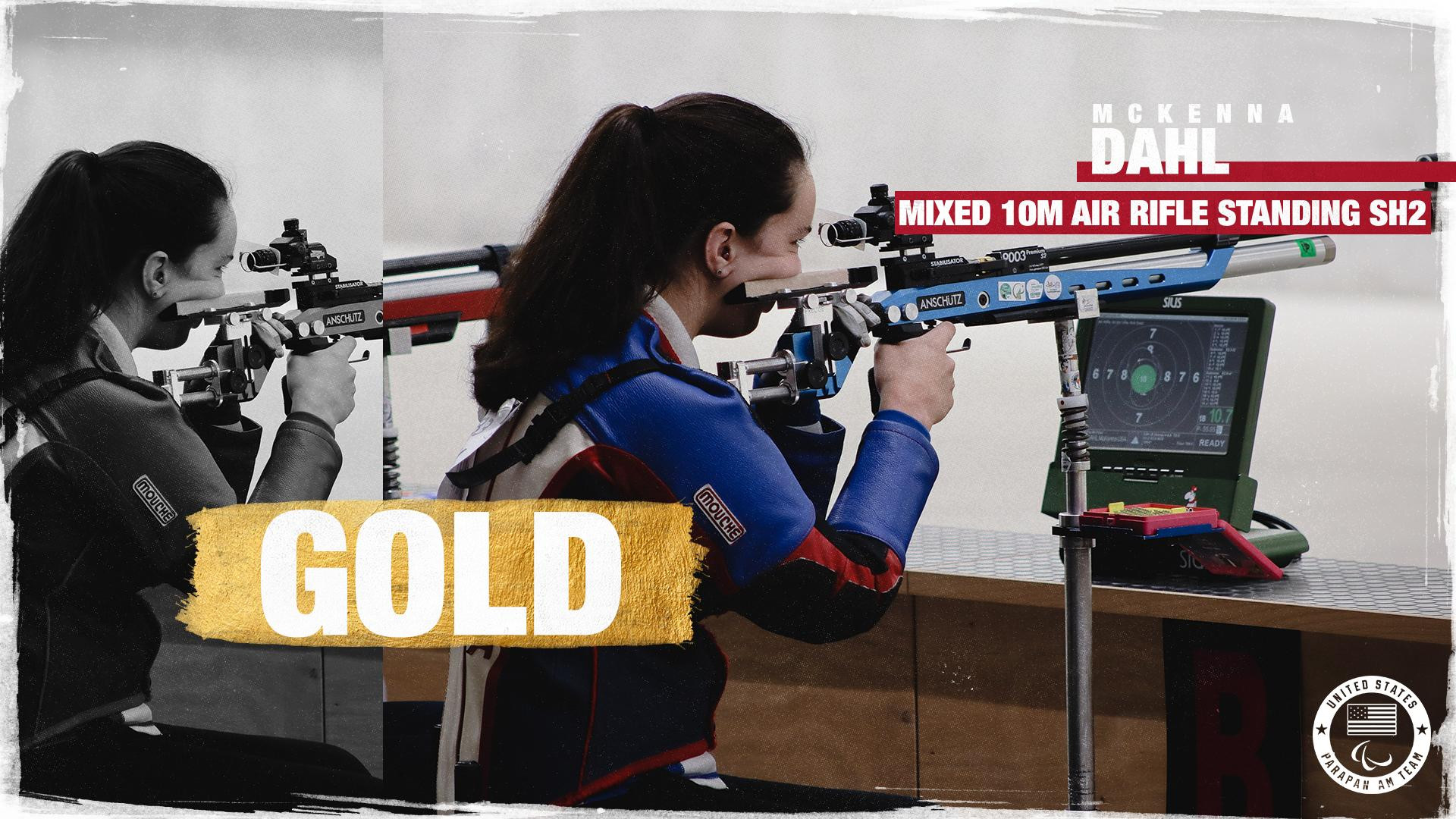 Golden girl. 👑  @KennaDahl is your Parapan Am CHAMPION in the mixed 10m air rifle standing SH2. https://t.co/O2FXlViNmM
