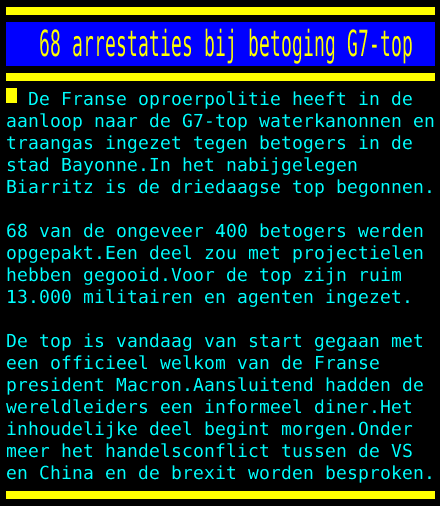 test Twitter Media - 68 arrestaties bij betoging G7-top https://t.co/RMmvKelwyJ