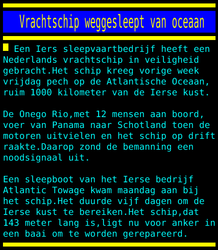 test Twitter Media - Vrachtschip weggesleept van oceaan https://t.co/1qvEeqrbsa