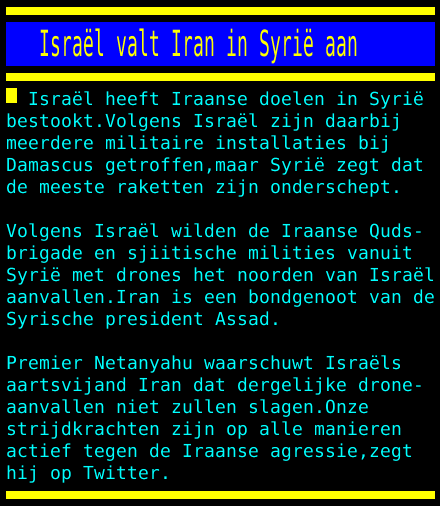test Twitter Media - Israël valt Iran in Syrië aan https://t.co/9qpzDXtHF0