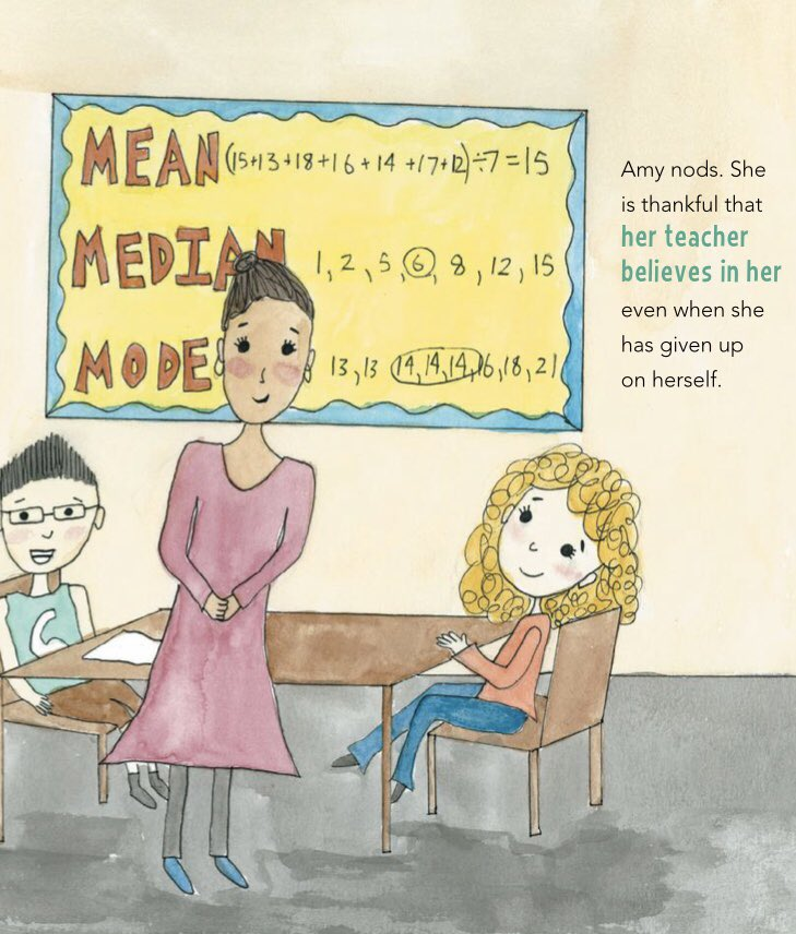 "test Twitter Media - ""She is thankful that her teacher believes in her even when she has given up on herself."" Everyone needs a Mrs. Garcia in their life. Who was or is your child's motivator when they stop believing in themselves? #everyonecanlearnmath #picturebooks #kidsbooks #mathbook https://t.co/5OmAcpGzty"