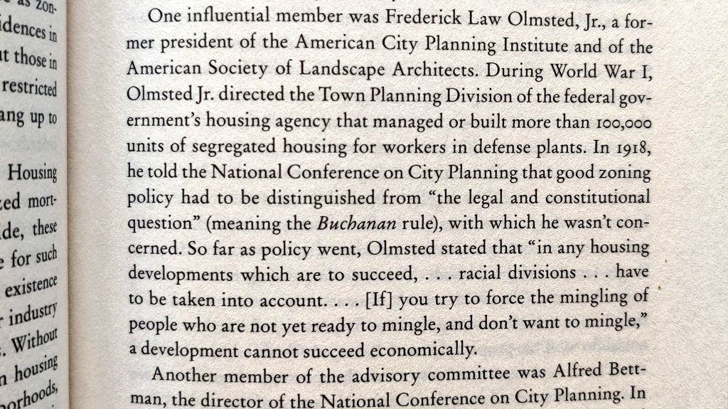 It's important to know, acknowledge, and reckon with the histories and ideologies that have shaped our cities and landscapes. This is an exerpt from Richard Rothstein's _The Color of Law_. @APA_Planning @NationalASLA https://t.co/kVH4EH1FGJ