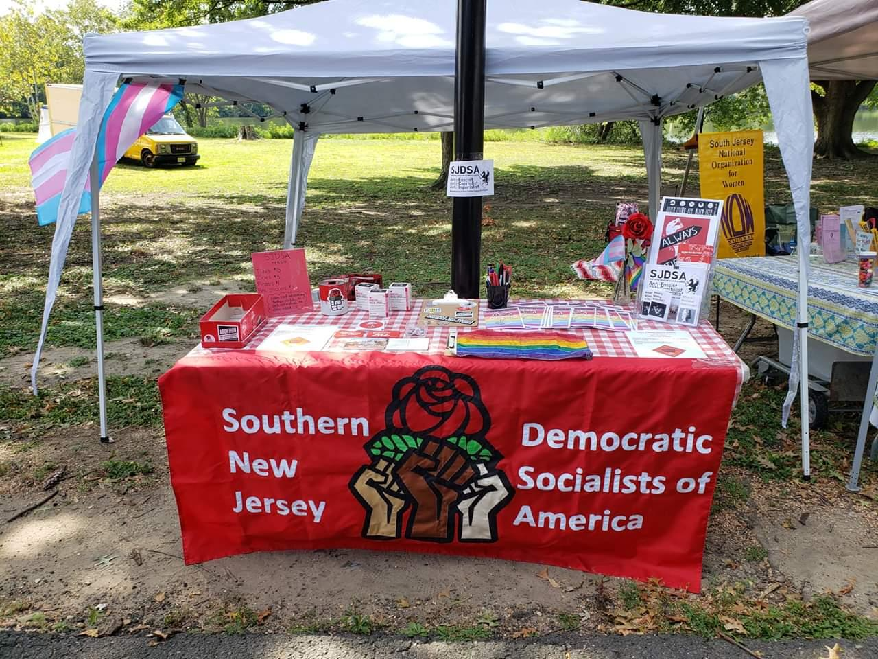 All set up and ready for #SNJGayPride! https://t.co/GxNceS3aih
