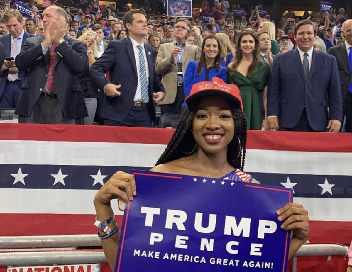 Our National Communications Director at the Trump 2020 Campaign Launch in Orlando.   She wasn't able to vote last election - but will cast her first ever vote for President Trump in 2020.  What are your thoughts on Trump 2020?  #Trump2020
