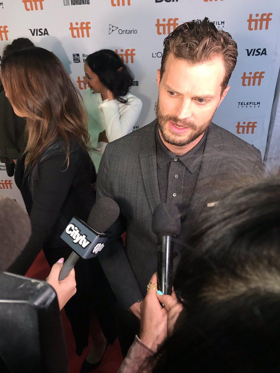 test Twitter Media - #SebastianStan, #JamieDornan and #MatthewGrayGubler stopped to chat at the premiere of #EndingsBeginnings! ✨ #TIFF2019 https://t.co/vUV06g74vS