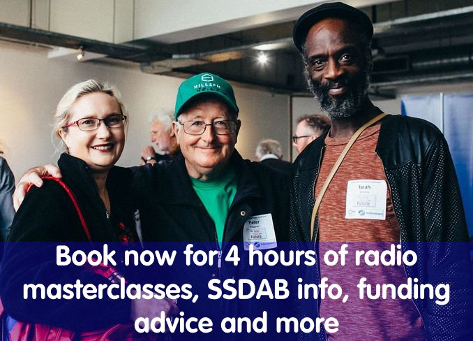 test Twitter Media - Four hours of #radio masterclasses, #SSDAB updates & info, @AudioFund, funding advice, #podcasts, and more! Book now for the 2019 Community Media Conference Saturday 28th September - only £25/person at BBC MediaCityUK, #Salford  #communityradio #communitymedia https://t.co/RX3IDaf1va