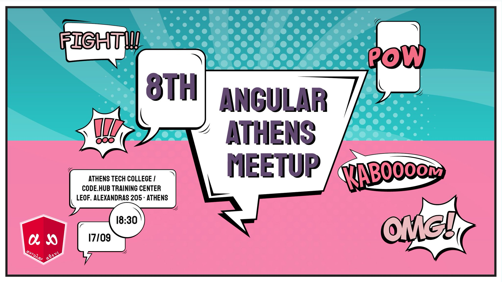 Soooooooo it's time to announce our awesome 8th #Angular #Athens #Meetup! Get Ready for @nrwl_io and our three awesome speakers @jeffbcross @MrJamesHenry @victorsavkin ! https://t.co/u1XItINLeM