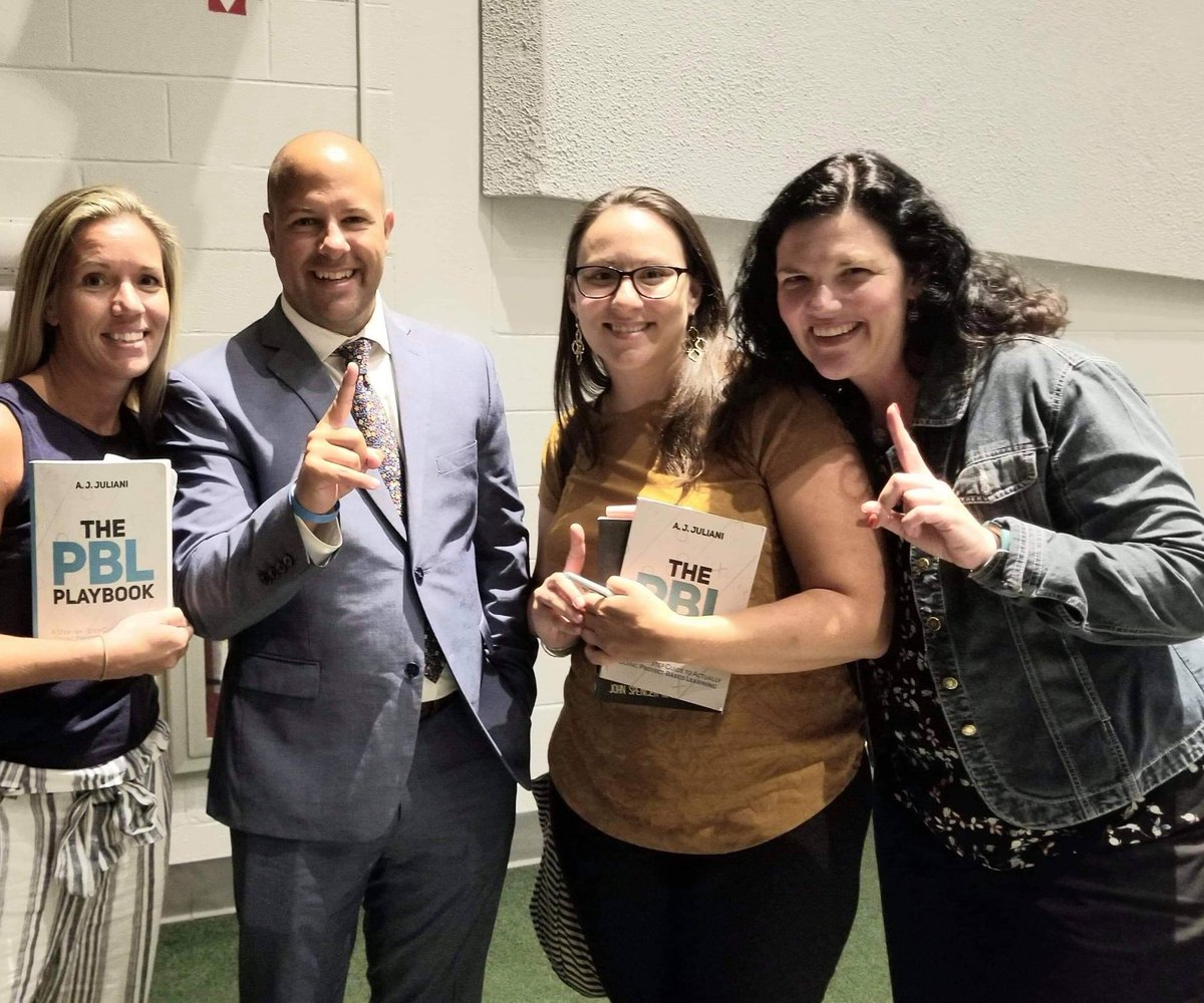 test Twitter Media - By far the best #keynotespeaker we've had on opening day! Thank you for the inspiration/motivation, @ajjuliani. And for the record....I think you're very cool! 😎 #BackToSchool2019 #empower #pblplaybook #launch @ErinTerbecki @LisaRankl https://t.co/iDzq6cjSgD
