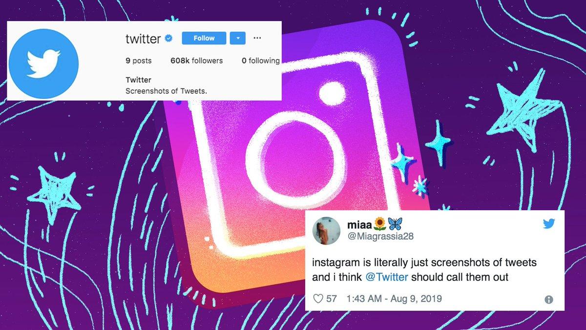 Twitter trolls Instagram by posting screenshots of tweets to Instagram