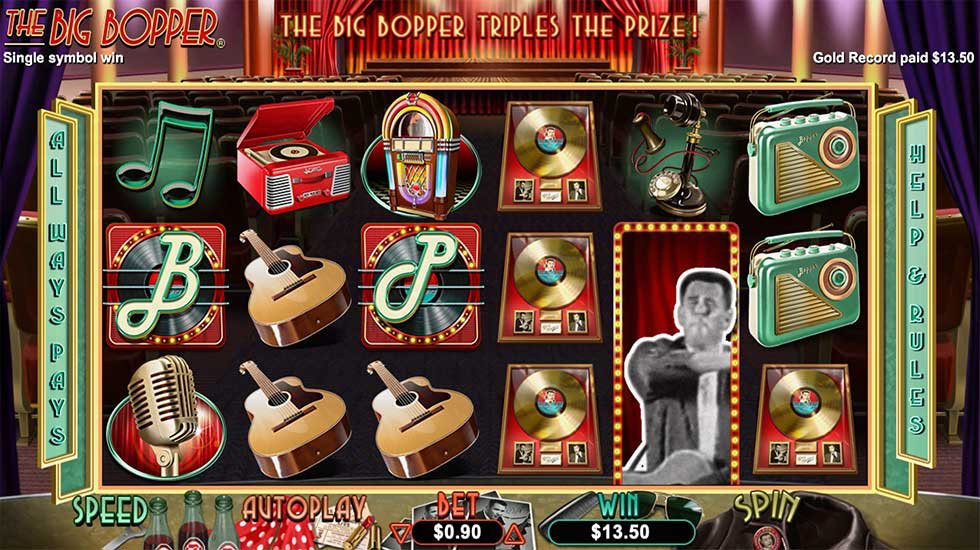 Have you played RTG's #TheBigBopper #slot? It's one of our favorites... #win #music #rocknroll #lasvegas #casino #bitcoin #btc #casinogames #slots 🎵🎤