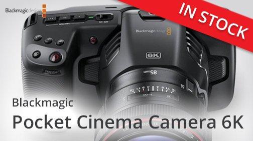 ‼️IN STOCK - Blackmagic Pocket Cinema Camera 6K