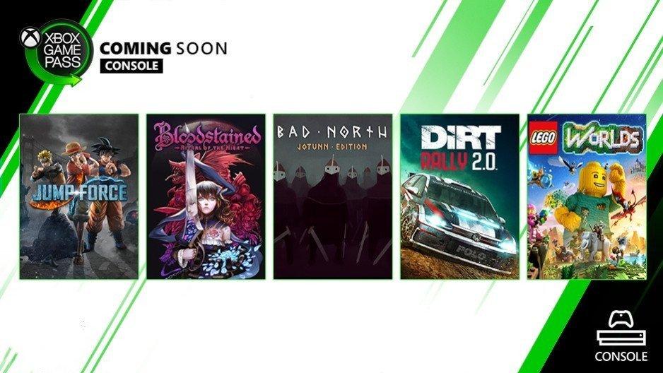 ألعاب جديدة في طريقها لخدمة Xbox Game Pass وعلى رأسهم لعبة #Bloodstained الصادرة مؤخراً وأيضاً #jumpforce  #gamepass #xboxone #xbox #XboxGamePass https://t.co/Pr5S76IBjY