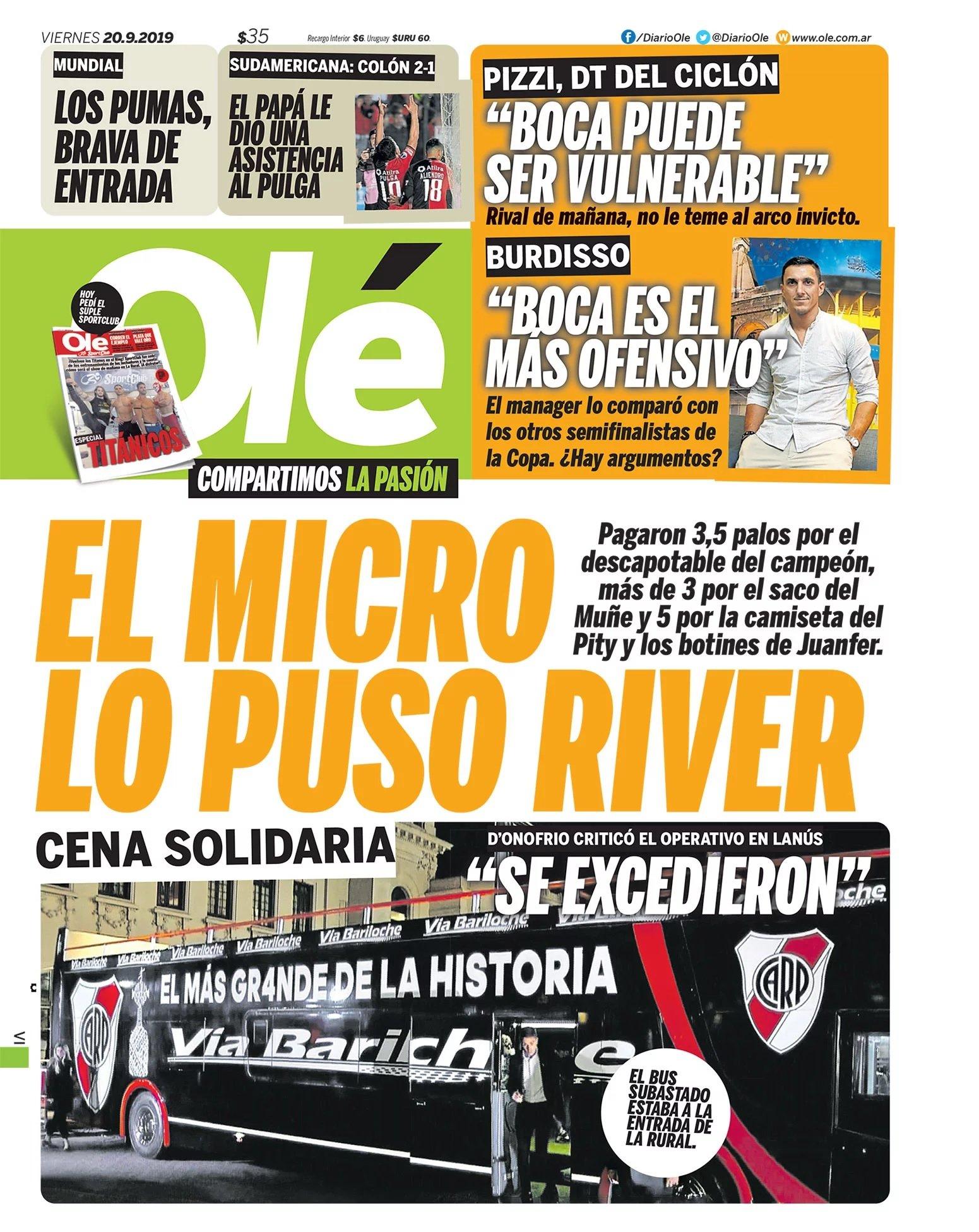 EL MICRO LO PUSO #RIVER #LaTapaDeOle | Viernes 20 de septiembre https://t.co/JjWiunvZPA
