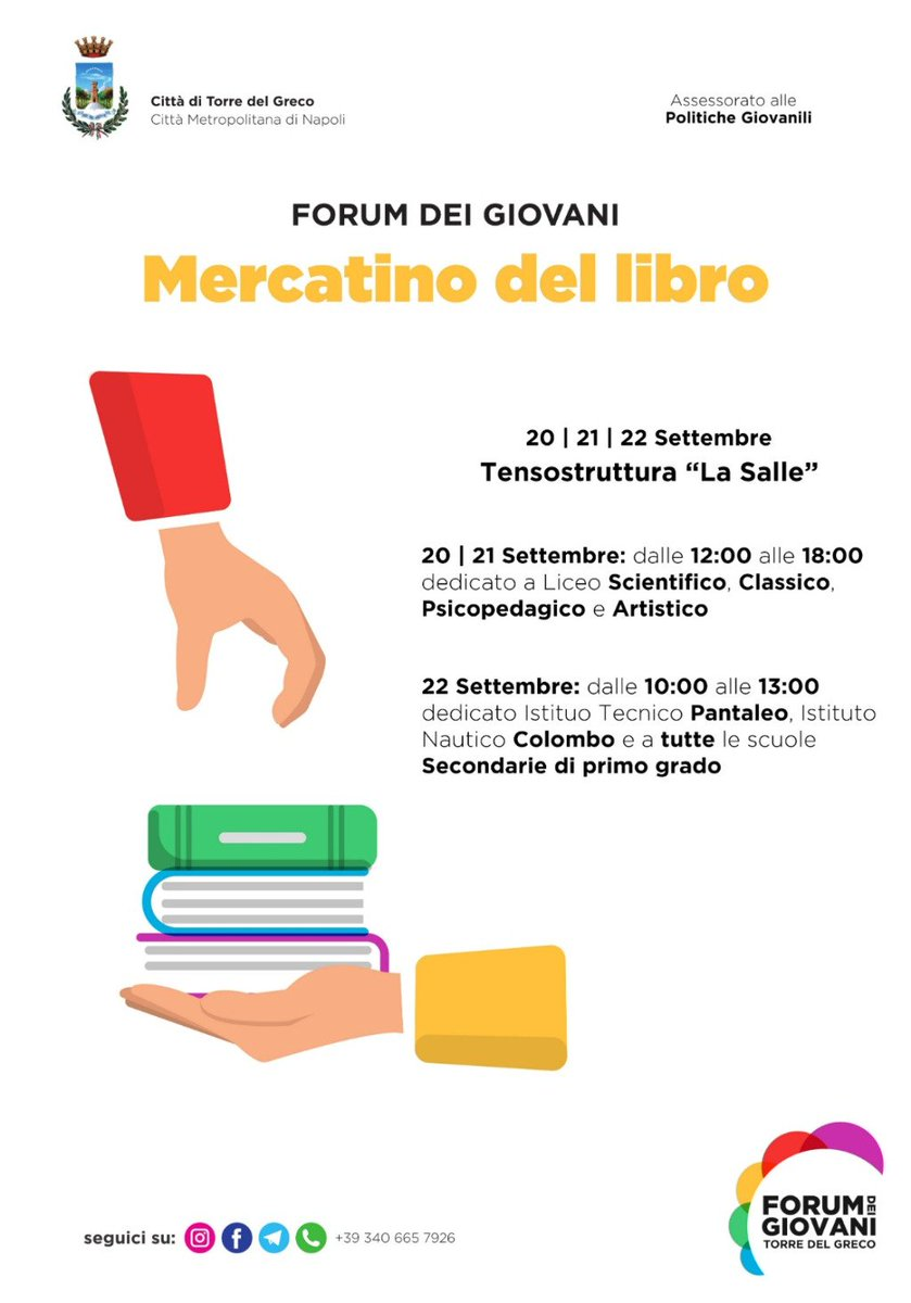 test Twitter Media - Apre a #TorredelGreco il mercatino del libro usato organizzato dal #ForumdeiGiovani https://t.co/MIlLcuDHB0 https://t.co/Z3yYqk3HvM