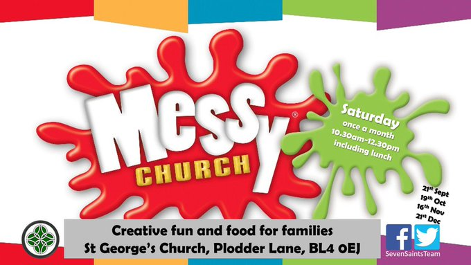 RT @SevenSaintsTeam: Messy church this Saturday @SevenSaintsTeam St George's.  Guess the theme! https://t.co/zruW8aTiXF