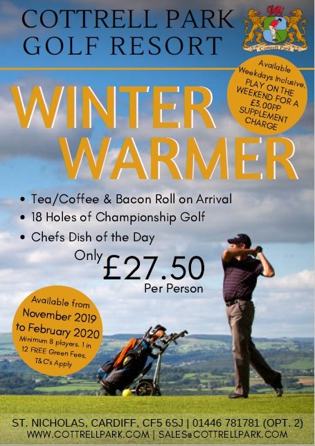 test Twitter Media - Fancy yourself a society day this winter? If the answer is YES then be sure to take advantage of our Winter Warmer society package for only £27.50 per person ⛳️🏌️‍♂️  For more information contact T:01446 781781 Option2 | E:sales@cottrellpark.com . . #golf #winter https://t.co/QjAPqleE2J