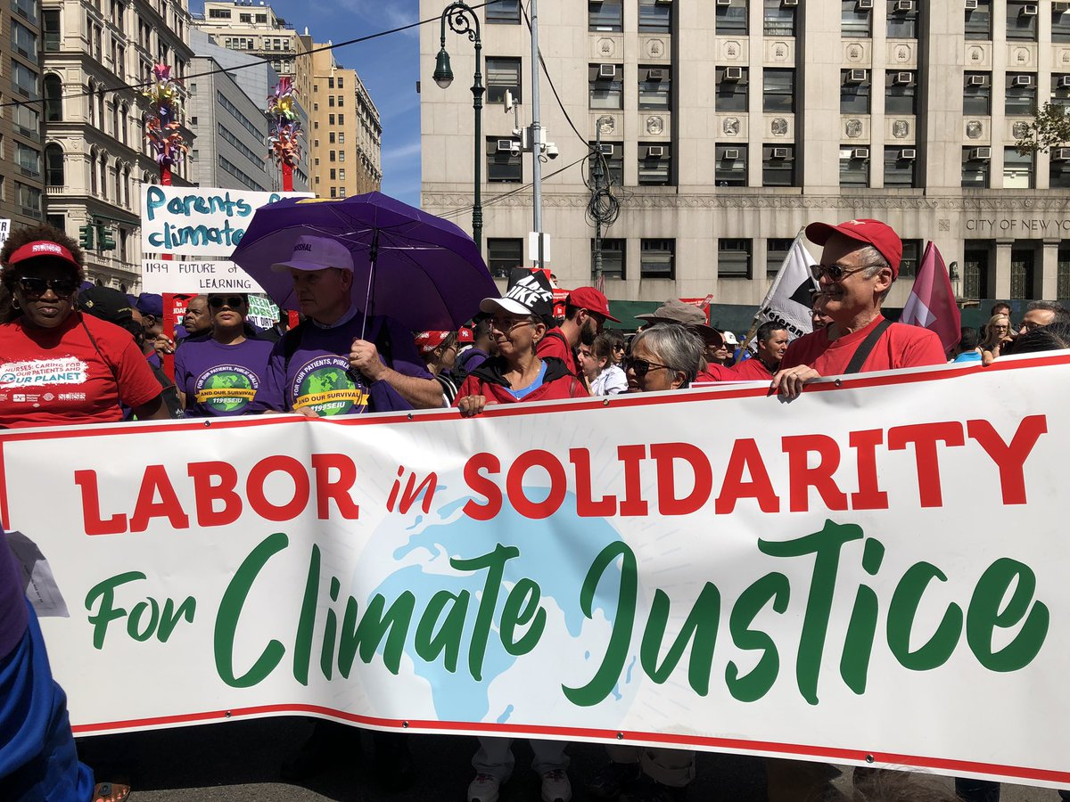 LABOR FOR CLIMATE JUSTICE  #ClimateStrike #climatestrikenyc #ClimateAction https://t.co/cQ6Rz7rnYY