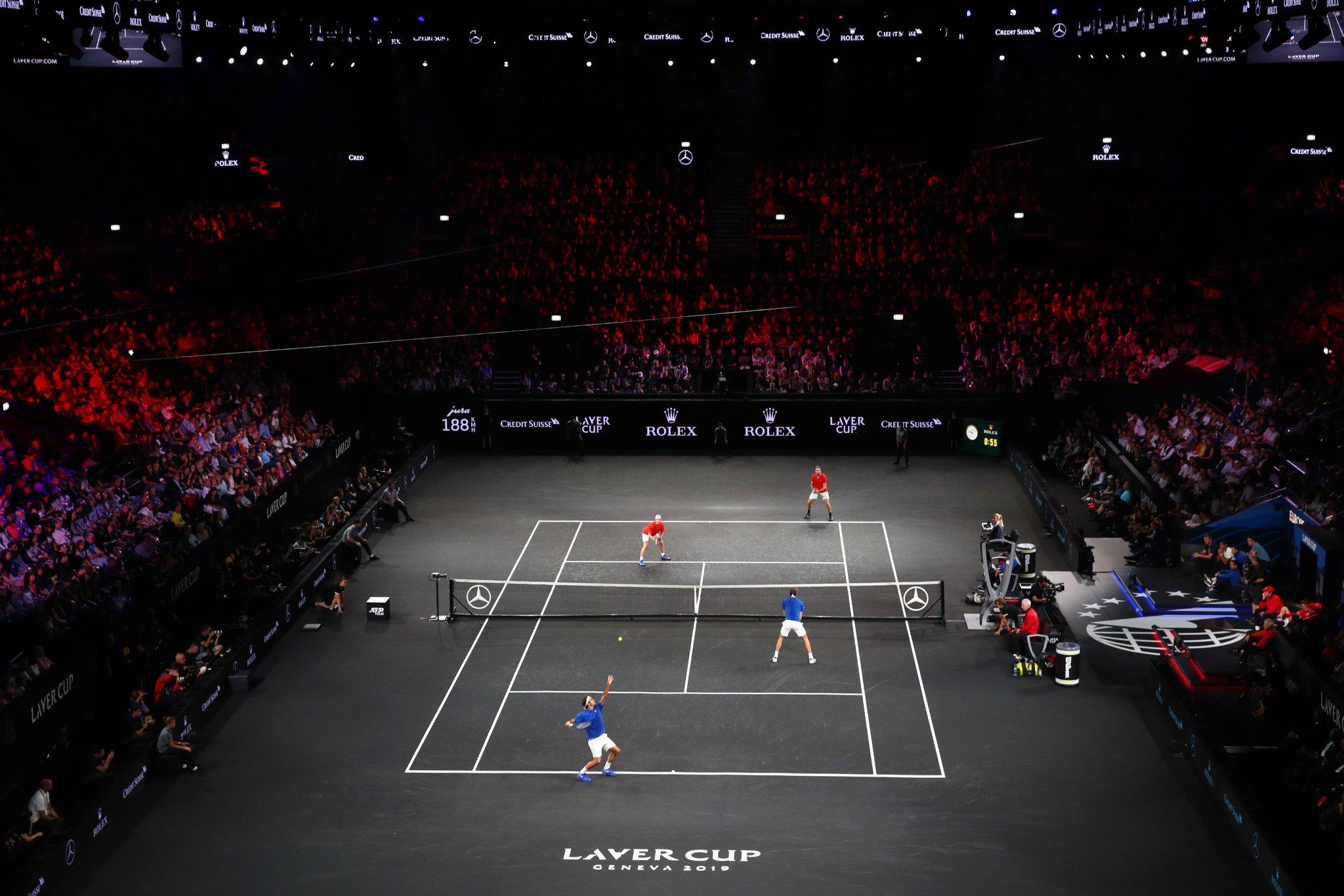 Day 2 of #LaverCup is going to be 🔥  1⃣. Zverev vs. Isner 2⃣. Federer vs. Kyrgios 3⃣. Nadal vs. Raonic 4⃣. Nadal/Tsitsipas vs. Kyrgios/Sock  Which match are you most excited for? https://t.co/R1hGXukbXo