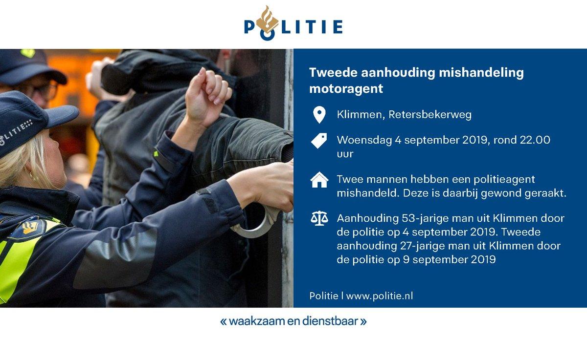 Vanmorgen is de tweede verdachte van het geweld tegen de motoragent in #klimmen aangehouden...