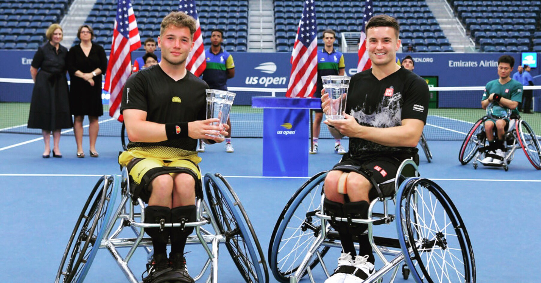 2017 🏆 2018 🏆 2019 🏆  3 @usopen doubles titles in a row with @alfiehewett6 . Thanks for the backing as always, onwards and upwards ✊🏼 https://t.co/wnX0kIKOTu