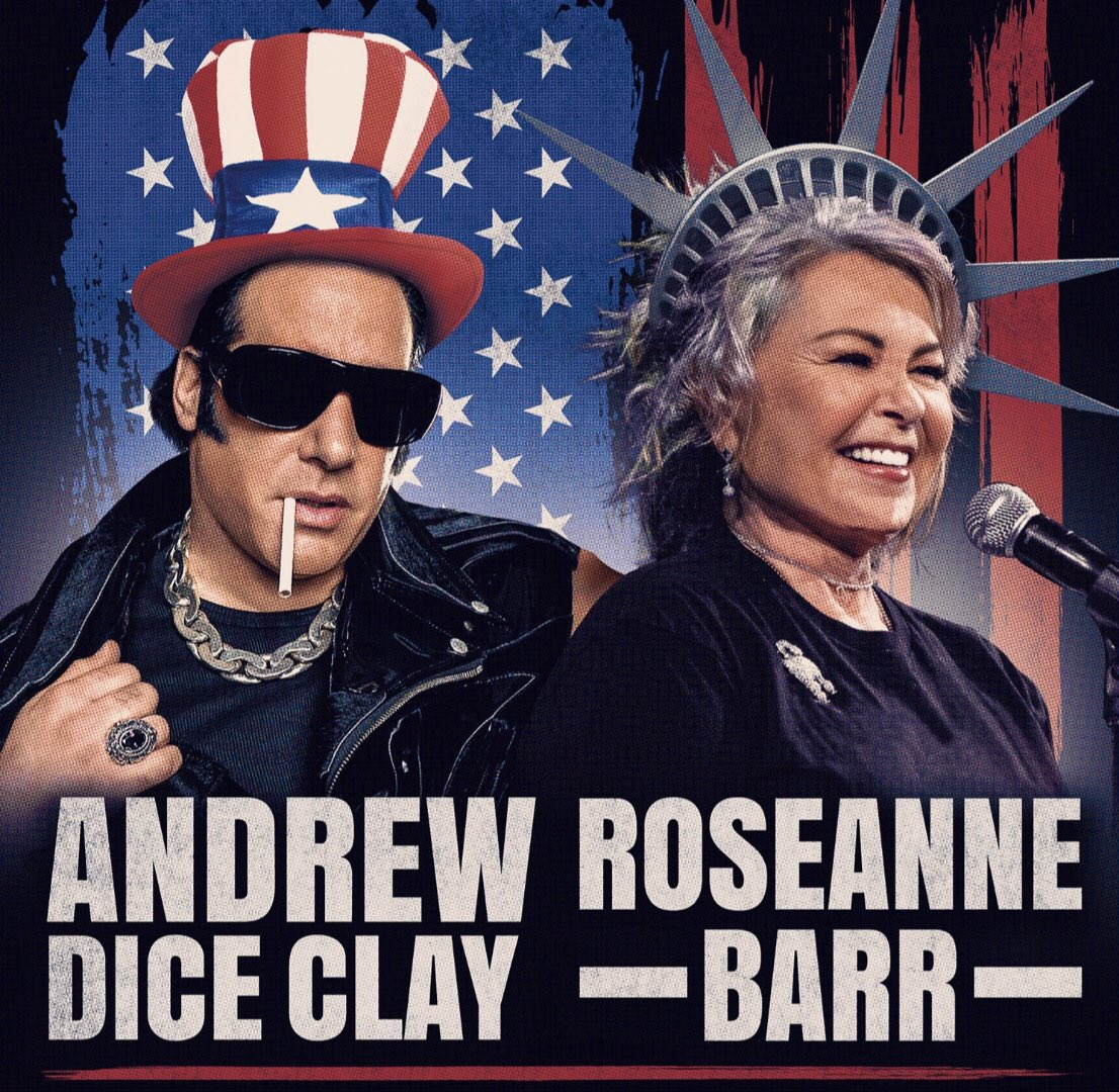 test Twitter Media - Come see! Mr. & Mrs. America: Andrew Dice Clay & Roseanne Barr, 9/19/19 @ 8:00PM, The Paramount, 370 New York Ave. Huntington, NY 11743 Tickets: https://t.co/lOsMImZEKe https://t.co/isKtzhMPm8