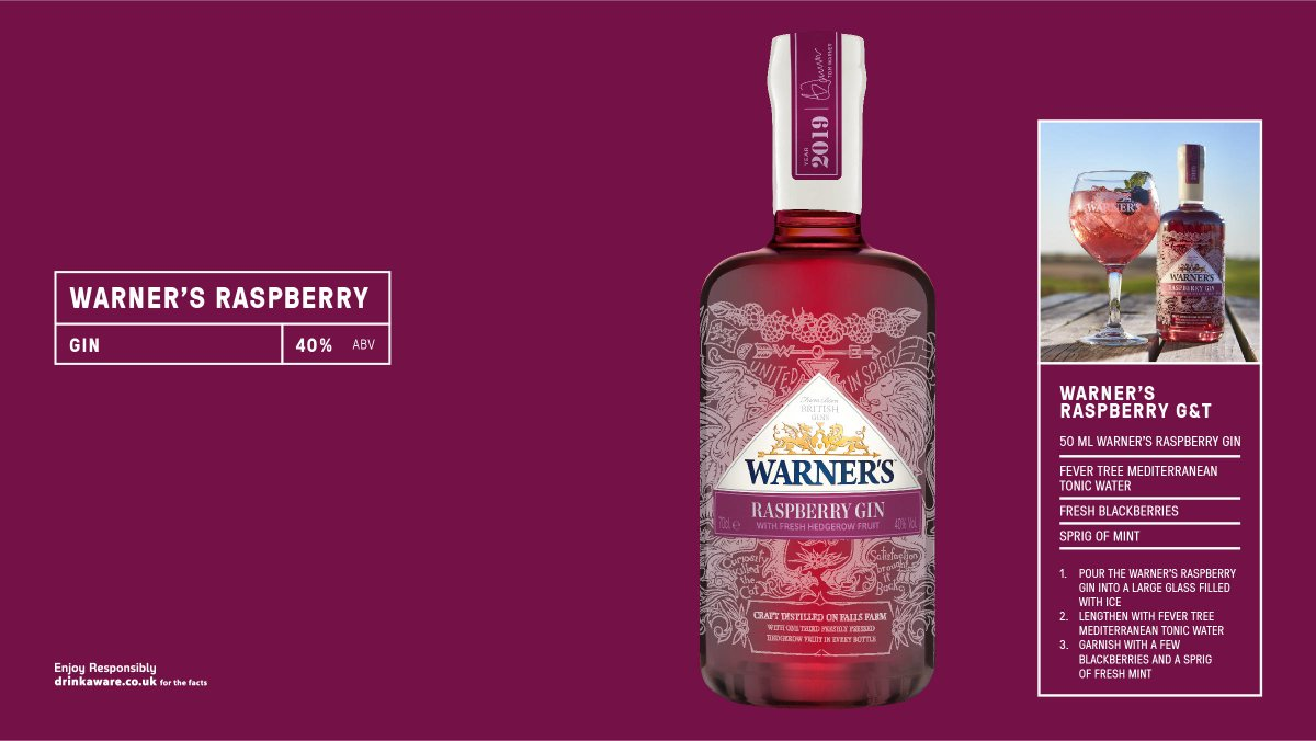 Made with hedgerow fruits, @warnersgin Raspberry Gin is one third of this bottle is fresh raspberries, blackberries and our hand-picked hedgerow elderflower. #britain #bestofbritain #gin  Download our new supplement https://t.co/BdSMYVHJPz https://t.co/O9cL06Gz71