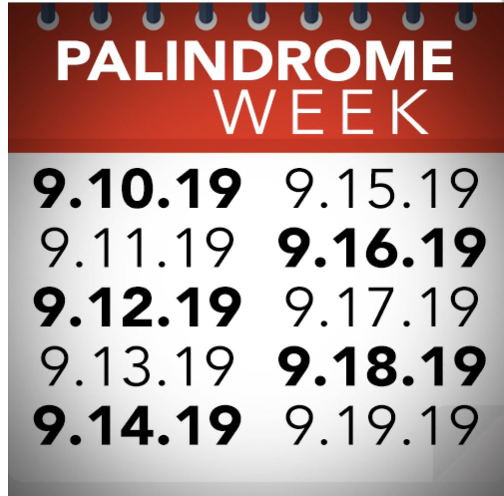 test Twitter Media - RT @zennedmath: It's Palindrome Week!!!! Anybody doing anything cool? #iteachmath #mtbos https://t.co/nZOcoaYS5U