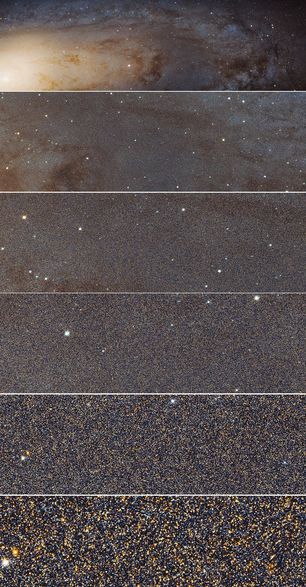 The close-up of the Andromeda Galaxy from the Hubble Space Telescope shows how many stars there really are. https://t.co/VM4WXGJ3mF