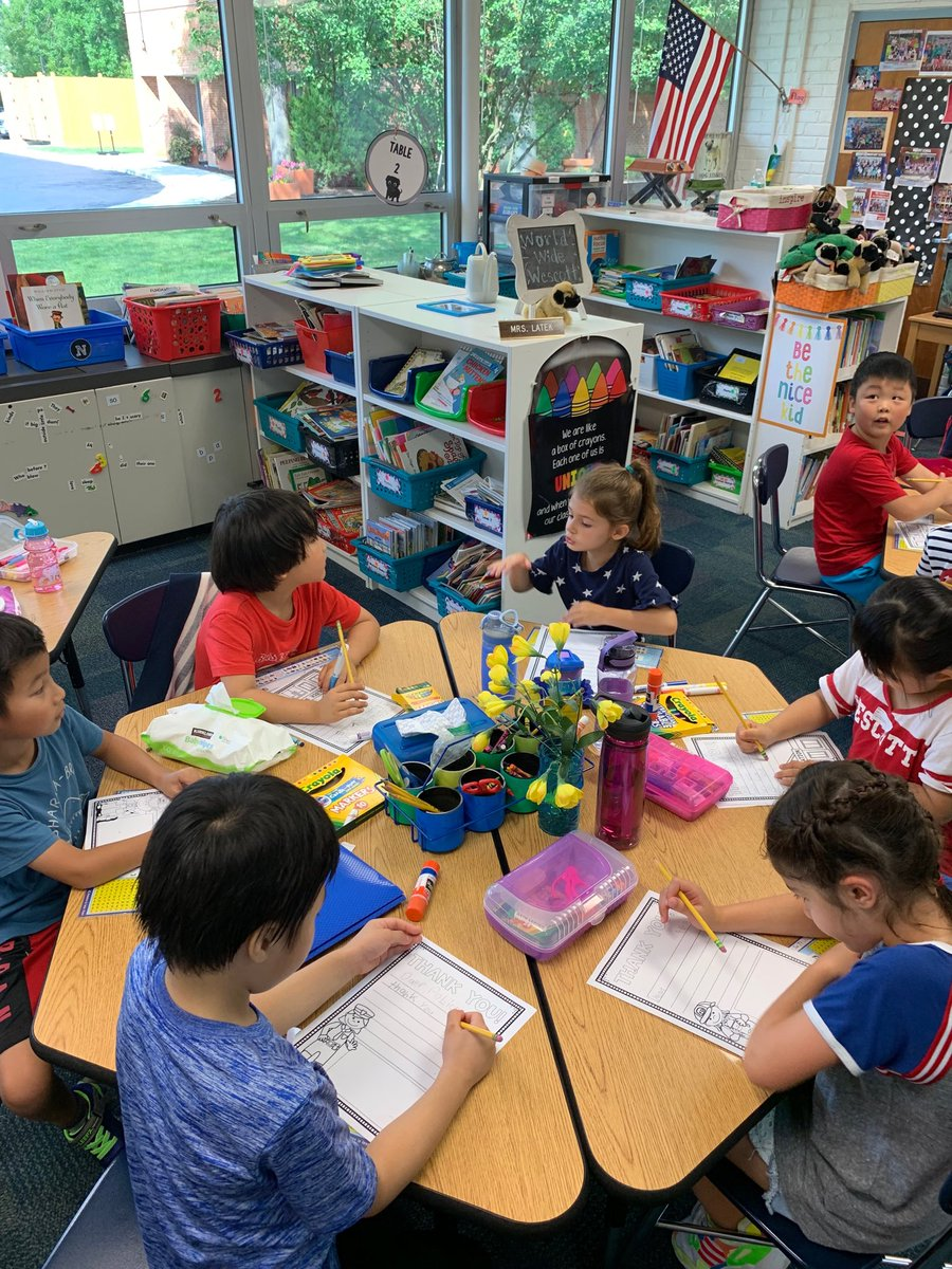 test Twitter Media - First graders working on letters honoring first responders #d30learns https://t.co/oczDiXwnY4