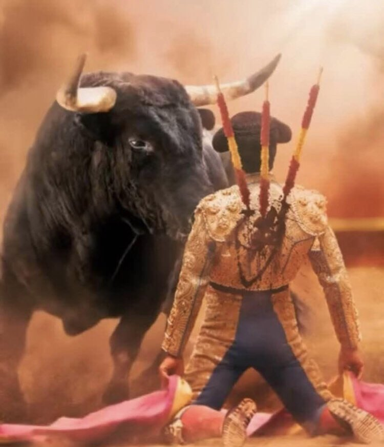 @spain #Spain @spaincultureus #spaintourist the world watches in utter disgust as you justify torture and murder in the name of backwards traditions #shame #boycottspain #animalcruelty #karma #bullfight #bullfighting #bullfighter #cowards https://t.co/6kETgWzndk