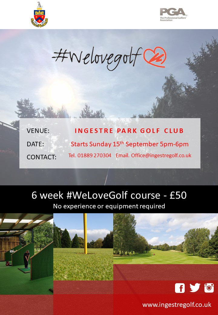 test Twitter Media - 🚨LADIES🚨  There is still time to get involed in our #WeLoveGolf 6 week course!  Starts this Sunday 5pm-6pm. No experience or equipment required.   Drop us a message if you wish to book or email  office@ingestregolf.co.uk  @WeLoveGolfPGA @ThePGA @Medi8Golf @EGWomensGolf https://t.co/3uyhKQCiZG