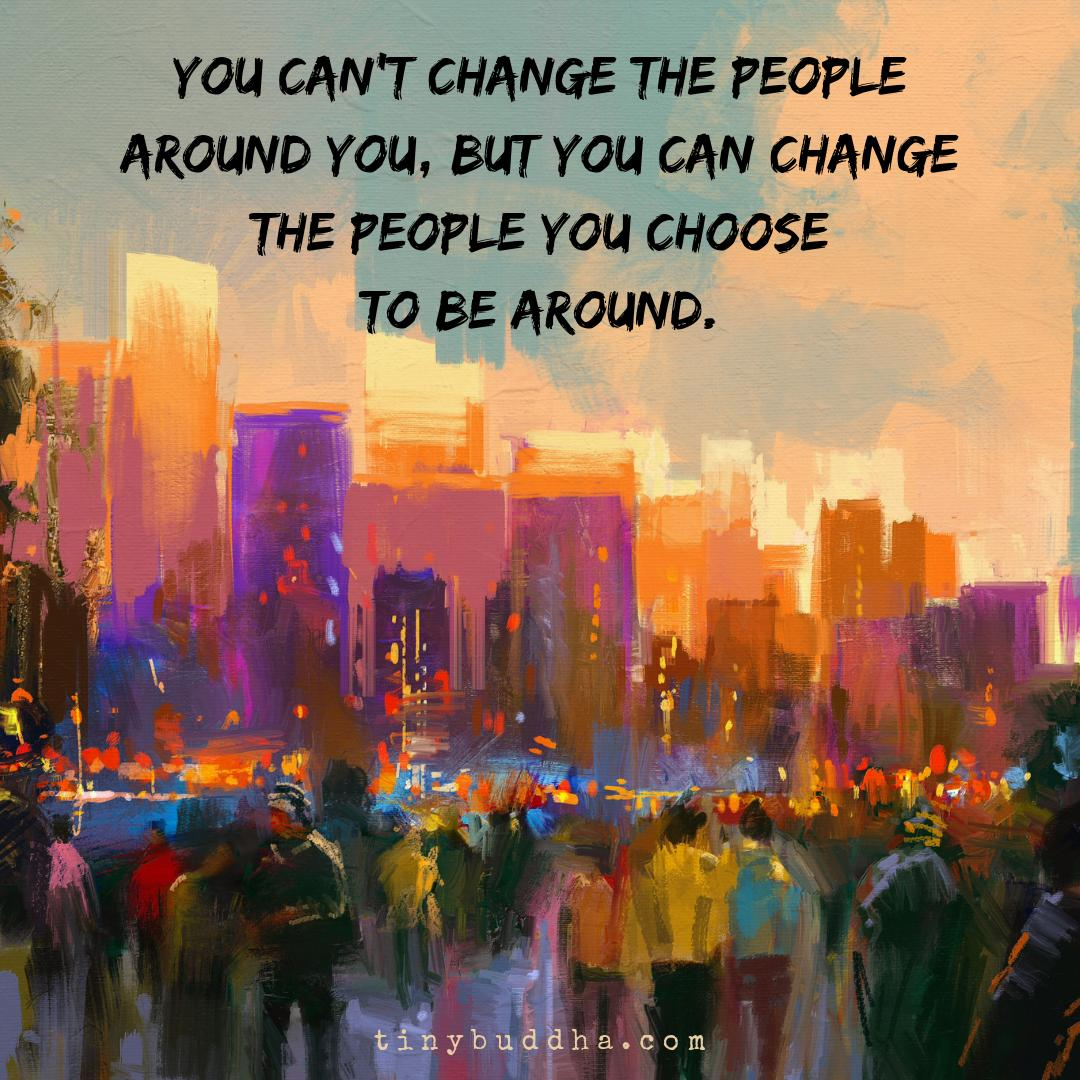 You can't change the people around you, but you can change the people you choose to be around. https://t.co/8fpqFWrvpZ