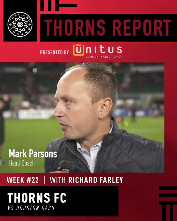 """We all have to have our own reflection. We've got work to do.""  This week's Thorns Report, presented by @UnitusCCU. #BAONPDX https://t.co/ZS2msXHn9J"