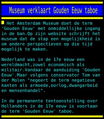 test Twitter Media - Museum verklaart Gouden Eeuw taboe https://t.co/LffTOYotjp