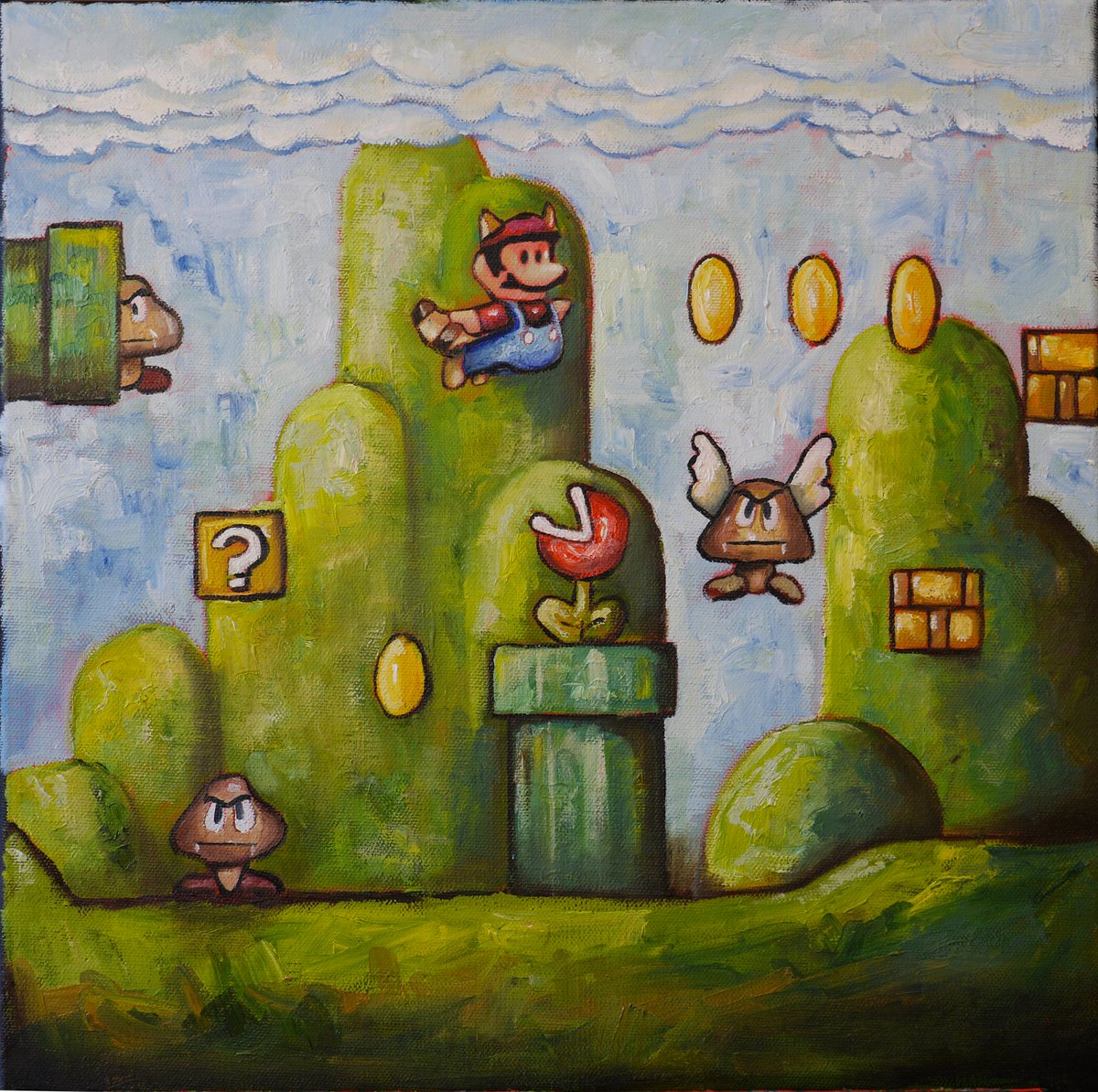 test Twitter Media - Super Mario oil. Loved creating this one! #painting #art #artist  #illustration #artworks #artists   #paint  #instaart #fineart #abstractart #creative #paintings #love #videogames  #artoftheday #painting #nintendo #creating #color #canvas #gamer #games #snes #snesclassic #daily https://t.co/H1w0QaT69a