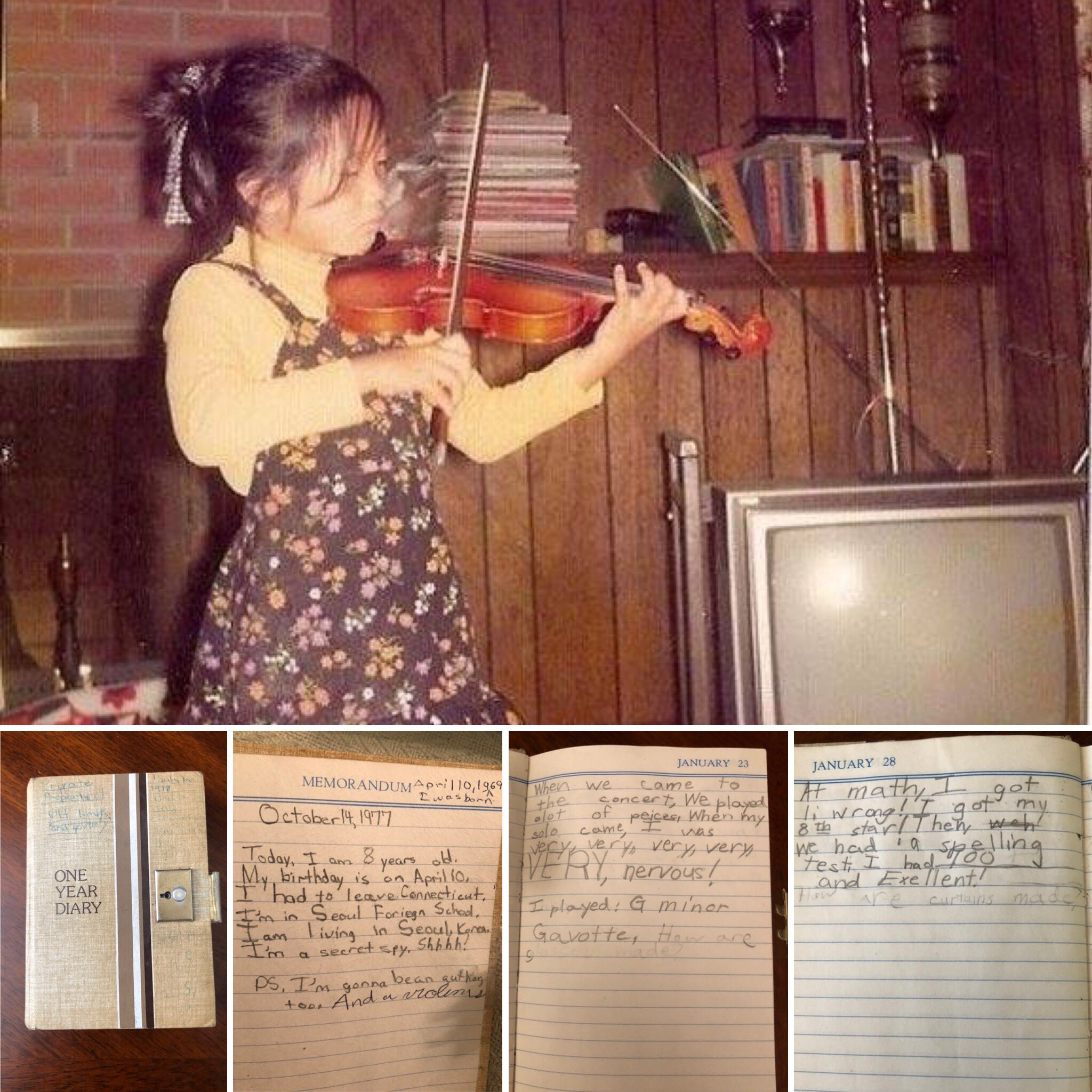 #YooAreHighStrung - Happy #FlashbackFriday as Yoo find more evidence in your recently unearthed diary that Yoo were a hyper-competitive 8-year-old hellbent on world domination. 😝🤓🎻🎼📝📓 https://t.co/YrRx0MNzn8