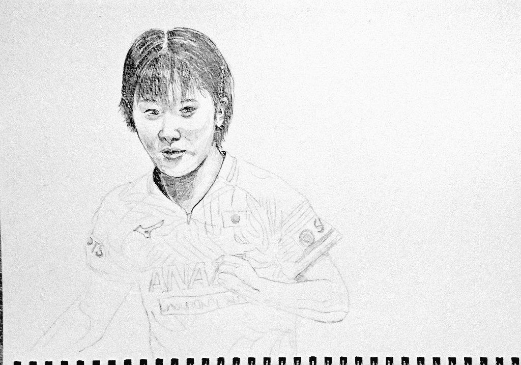 test ツイッターメディア - アジア選手権まもなく。久しぶりに好調キープしている平野美宇選手描き始めました(まだまだ途中ですが)。後方支援です。 https://t.co/Rdb8iZ6GxY