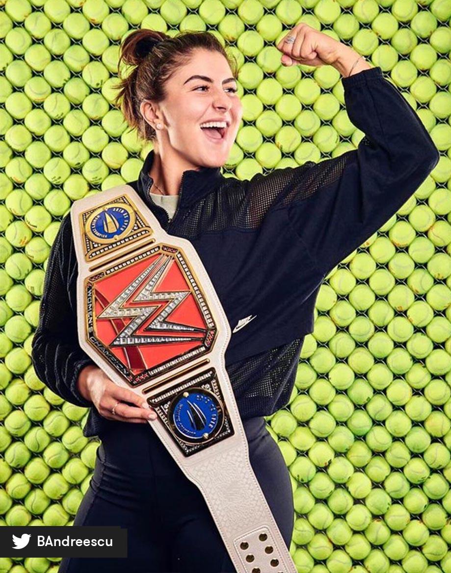 Una gran luchadora! @Bandreescu_ recibió un regalo de la @WWE luego de su hito en el #USOPENxESPN. 🤼 https://t.co/FBKEziIDeb