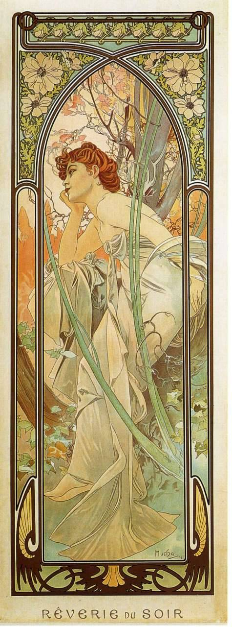 Evening Contemplation, 1899, Alphonse Mucha https://t.co/mwJx70GJlh